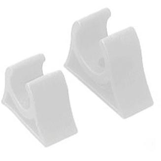 Sea-Dog Corp 4914491 Pole Storage Clip 1in White 1 Pair per Pack
