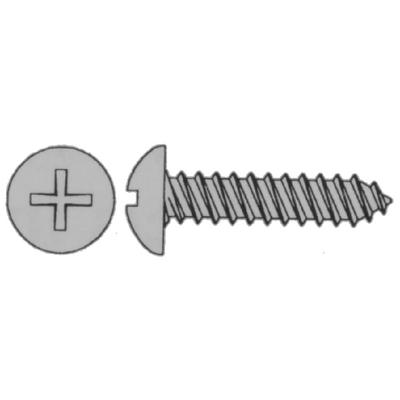 Eastern Fastener 0163 4 x 3/8 Phillips Self Tapping Screw Pan Head Stainless Steel