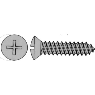 Eastern Fastener 0258 PHILLIPS SELF-TAPPING SCREW - OVAL HEAD /