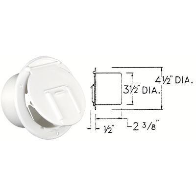 Jr Products 3702A Round Electric Cable Hatch (Jr)