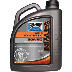 Bel-Ray Co Inc 96910BT4 V-Twin Semi-Synthetic Motor Oil (Bel Ray)