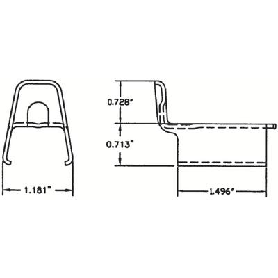 Camoplast Rockland Ltd 5000027 500-0027 Guided Track Clip (Wide) (Opd)
